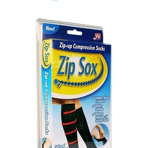 Zip Sox Other - Zip Sox Compression Sock, One Pair, S/M, Black
